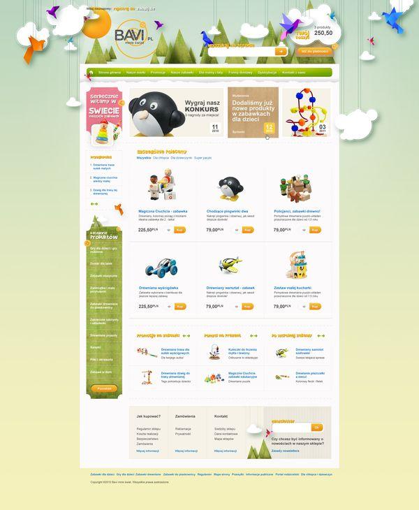 Toys'4'kids by Piotr Kazmierczak, via Behance #webdesign #inspiration