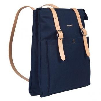 Dark blue Eppu backpack by Marimekko.