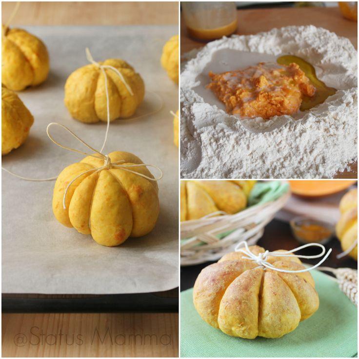 Ricetta e passo passo per preparare l'impasto di pane a base di zucca sofficissimo, con cui si puo' fare dai panini alle pagnotte oppure pizze e pizzette.