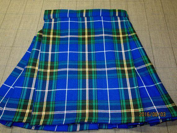 Nova Scotia Baby Boy Kilt~Blue Black Yellow Plaid Boys kilt Size~ Baby Kilts(2 or younger), Toddler Kilts (2-4) Youth Kilts (4-6)@sohoskirts