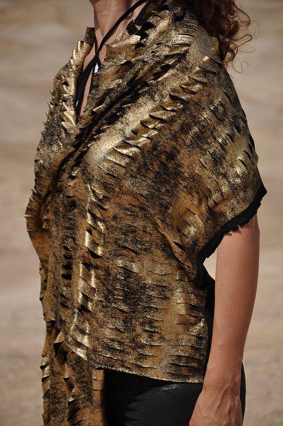 Gold shawl Festival clothing Burning man costumes Festival