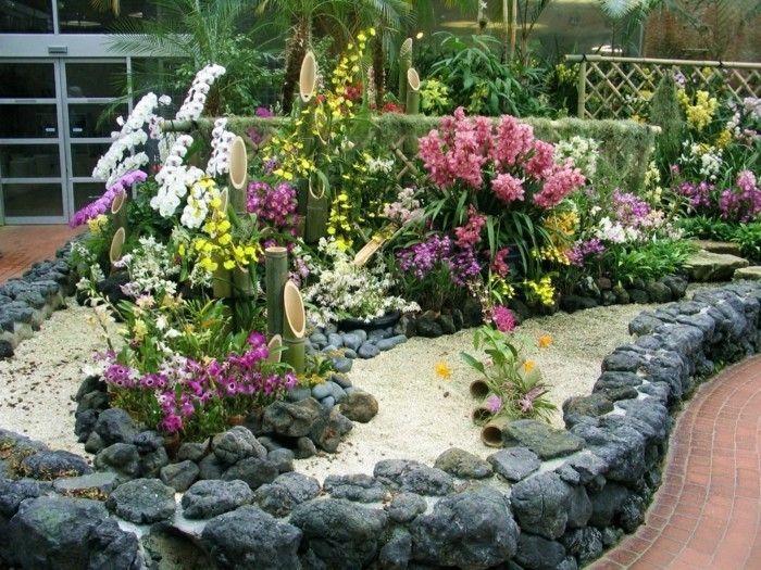 1001 Ideen Zum Thema Blumenbeet Mit Steinen Dekorieren Garten Garten Deko Garten Ideen