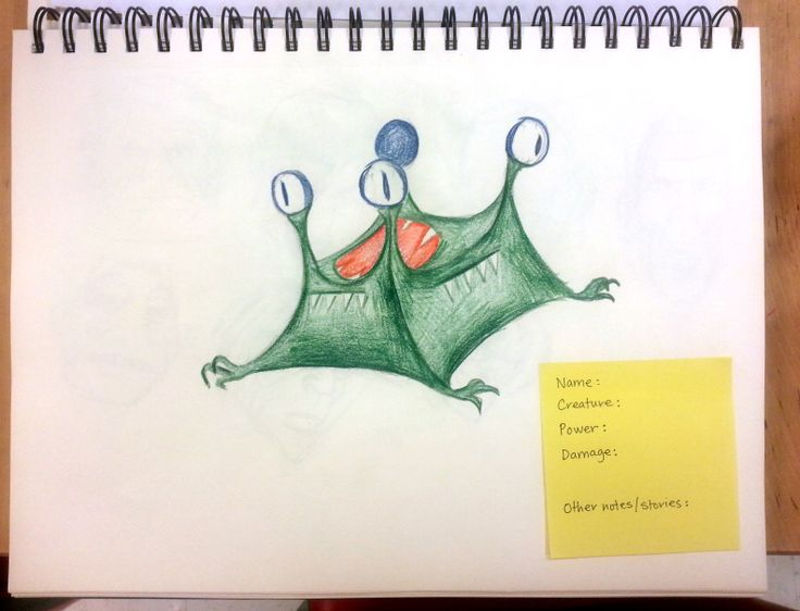 Has anyone seen a Tent Monster before? This character concept was imagined by a 12 year old student of ours.