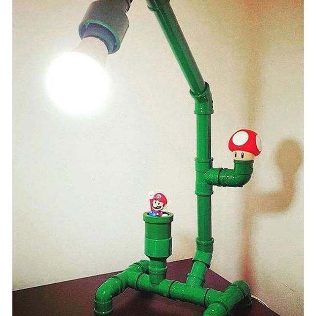 #upcycling lamp... #rawmaterial #reuse #light #lightning #mushroom #mariobros #green #art #pipes #repurposed #furniture #model #instacool #model #style