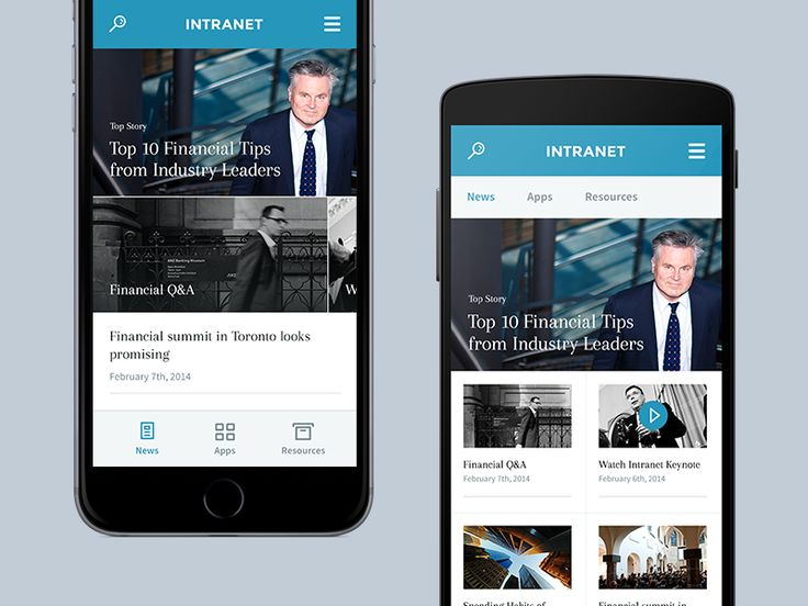 Intranet (Mobile) by Amit Jakhu for Myplanet
