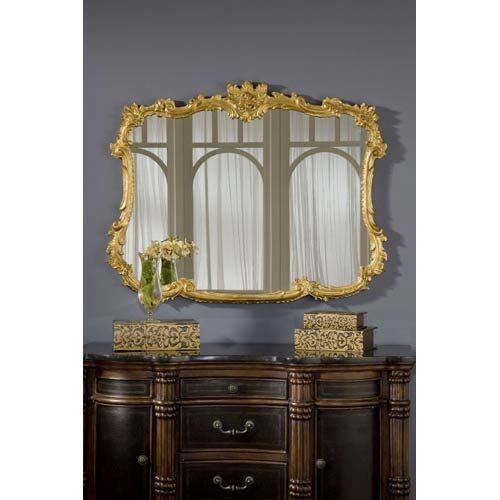 Buffet Gold Leaf Mirror