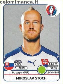UEFA EURO 2016™ Official Sticker Album: Card Front n. 229 Miroslav Stoch