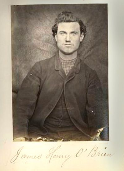"""James Henry O'Brien, 1866. From the Mountjoy Prison Portraits of Irish Independence. NYPL."""