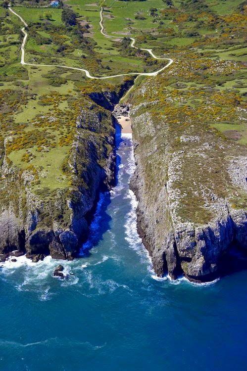 Casas rurales El Llanon de San Román en Asturias: Playa de Villanueva de Pria en Llanes