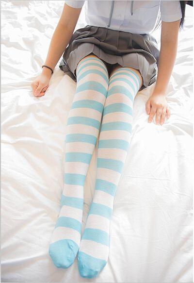 Cute striped knee socks thigh socks  - Thumbnail 1