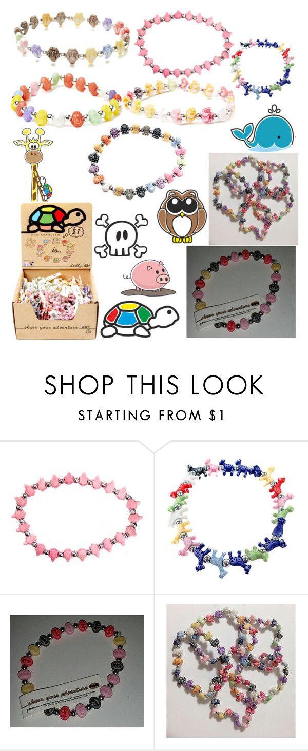 """""""I love these bracelets"""" by katlanacross ❤ liked on Polyvore featuring moda y Trrtlz"""