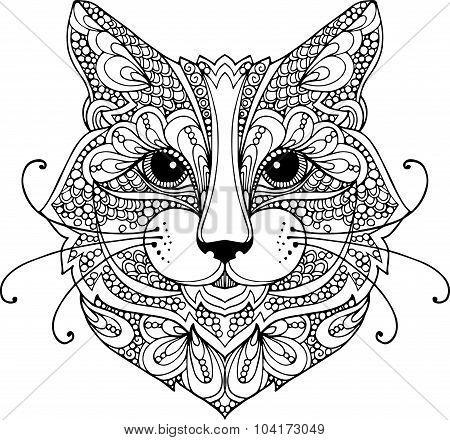Коты зентангл