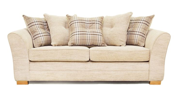 3 seater scatter back sofa from the Sofa Factory Charlotte range   AHF Furniture