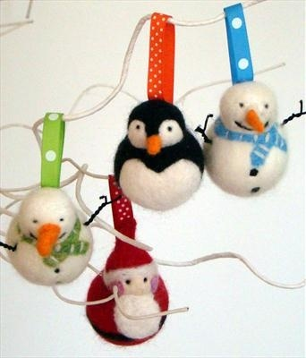 Felted Christmas Decorations