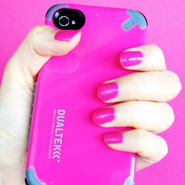 Did you know our DualTek Extreme Shock Case + Shield is available in Pink? #pretty #pink #nails: Bubblegum Pink, Pretty Pink Nails