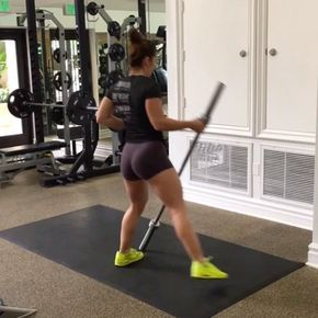 "9,519 Likes, 432 Comments - Noelle Benepe (@noellebenepe) on Instagram: ""Glutes and shoulders Side to side lunges X 30 alternating Squat hold shoulder press X 30…"""