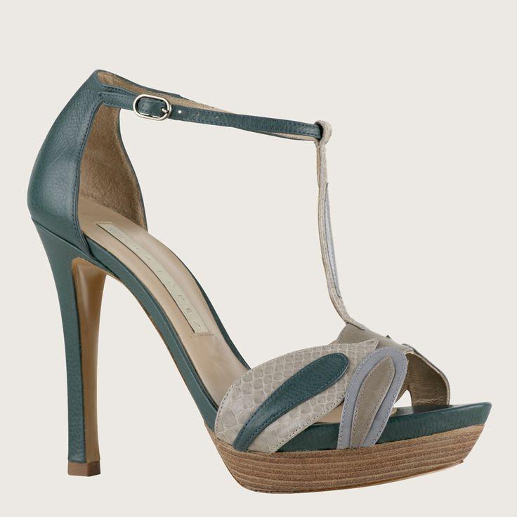 Zapato Pura Lopez azul #sandalias #zapatosorg