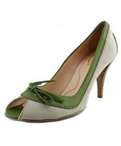 Tod's Tod's Coupe Decollet' Spuntata+Laccetto Women  Open-Toe Leather Green Heels