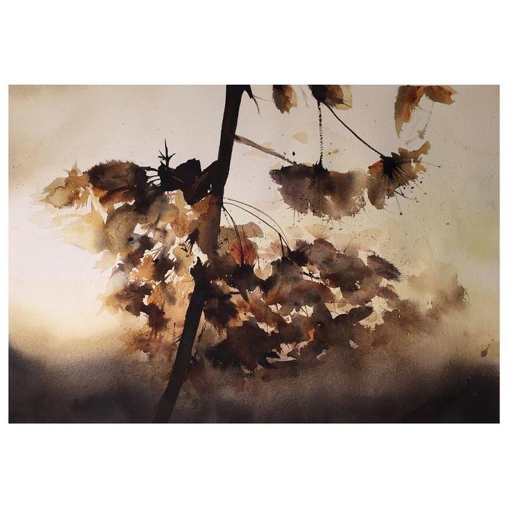 Autumn watercolour painting
