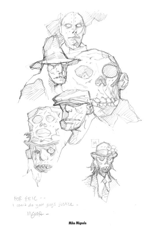 Mike Mignola - Character Design Page