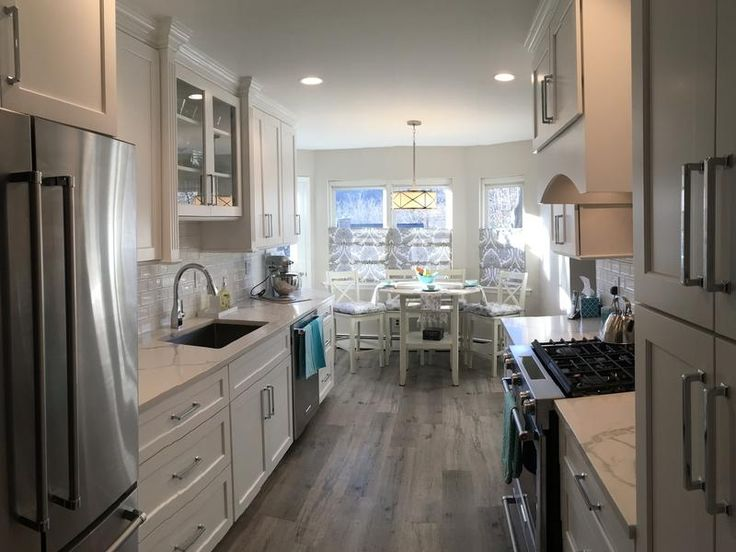 Kitchen Makeover - Driftwood Hickory EVP! This waterproof floor is perfect for kitchens & spaces where you might worry about moisture.