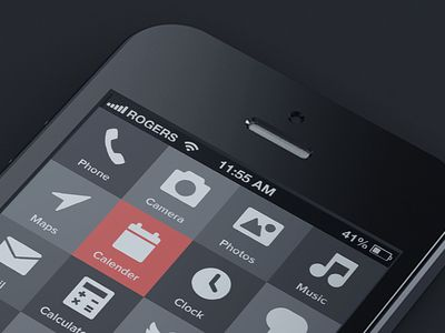 Dribbble - iPhone 5 Reduced by Jesse James Pocisk