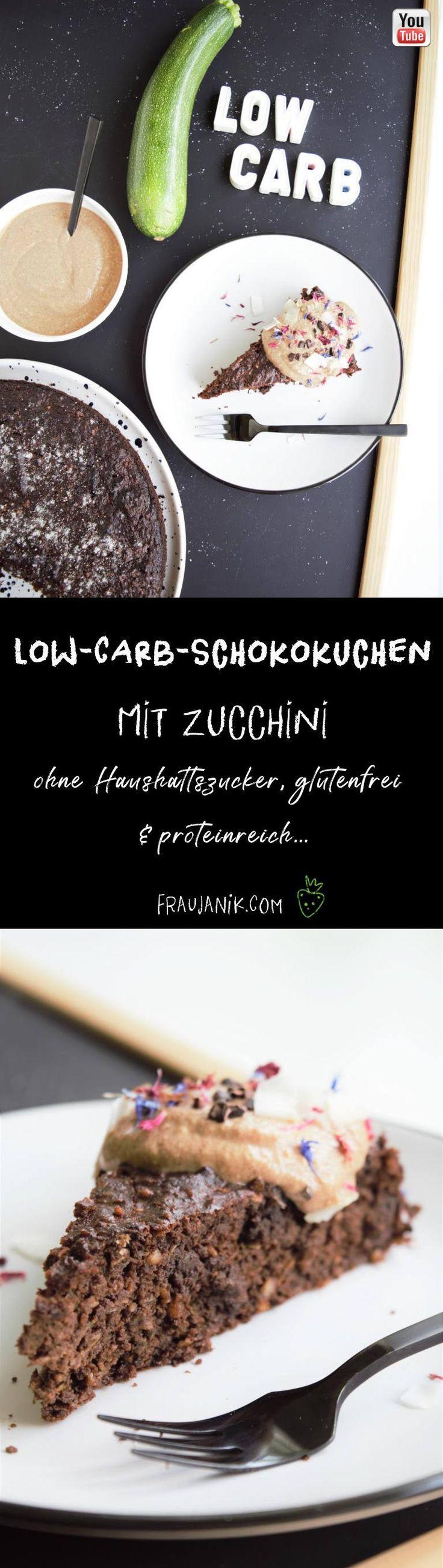 Bolo de chocolate com baixo carboidrato e abobrinha