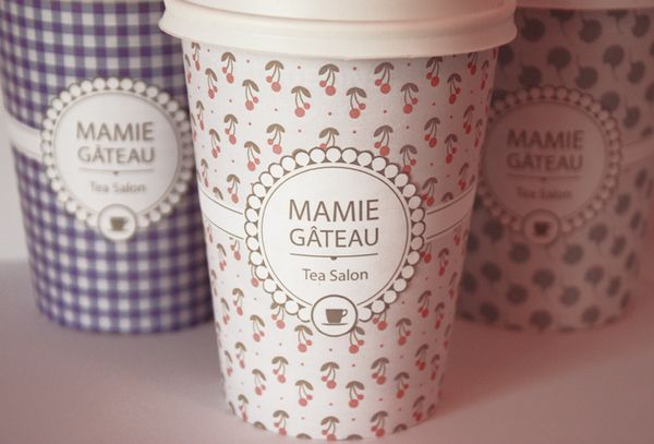 Mamie Gâteau // Tea Packaging by Noémie Pottiez (@Janice Sim Kumar @Tahnee Bruin Prior we especially need to go back now that they have these cute cups!!!)