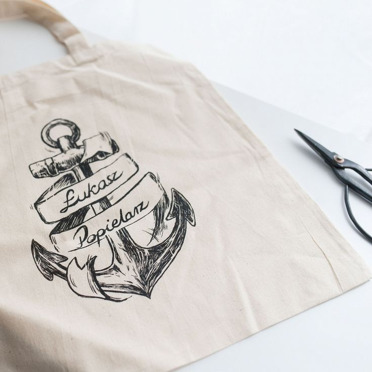 Bag with logo printed #customdesign #bags #packaging #packagingdesign #sailor #anchor