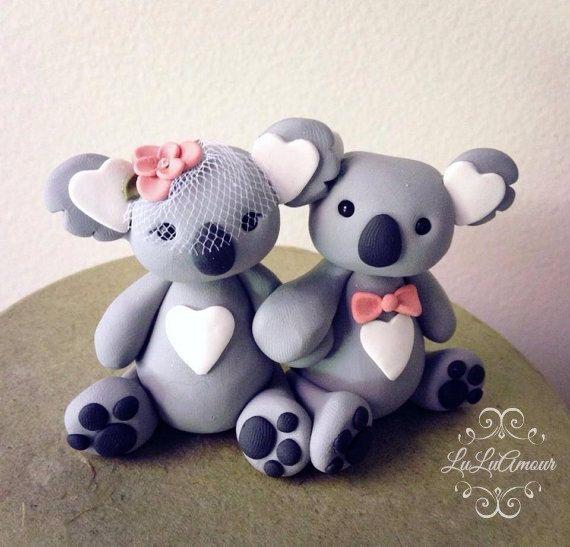 koala love Wedding Cake Topper Handmade
