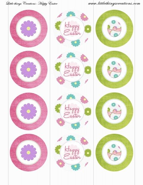 FREE Easter Party Printables from Little Things Creations