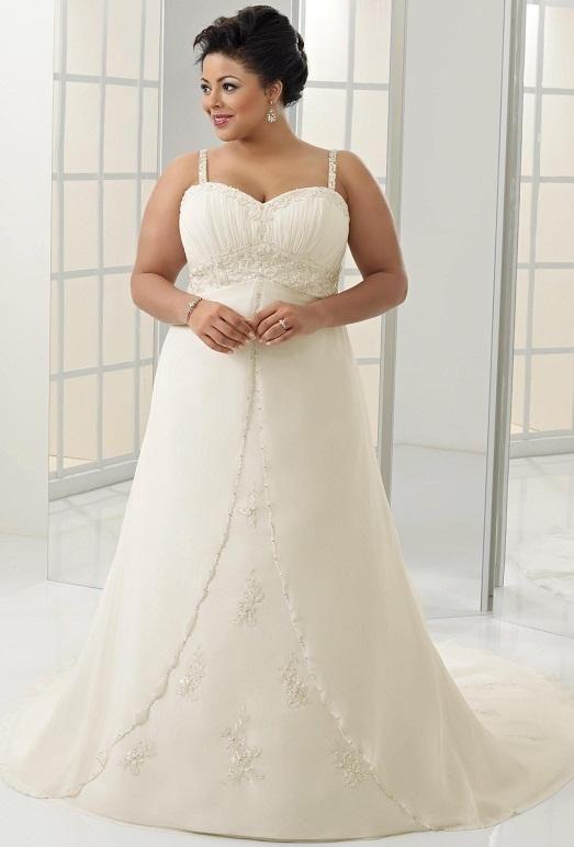 13 фото свадебных платьев для полных девушек