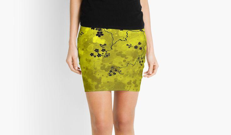 Spring Blossom by jollybirddesign #spring #blossom #skirt #yellow #watercolor