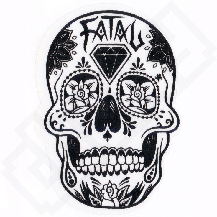FATAL MEXICAN SKULL TATTOO Skate ART Graffiti Sticker Decal Skate ...