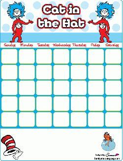 Free Printable Dr Seuss, Calendar