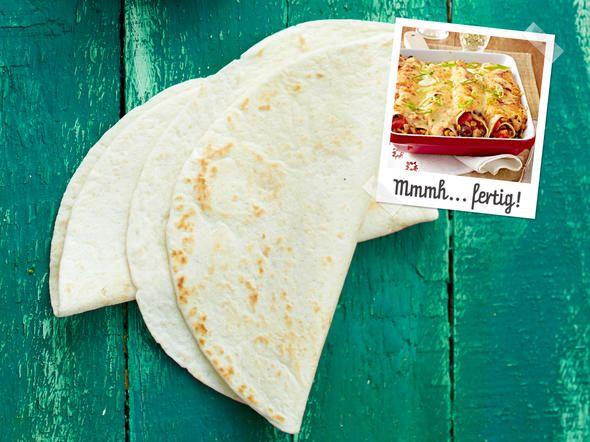 Enchiladas  mit Hähnchen - Zutaten für 4 Personen: