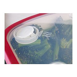 """IKEA 365+ Food container, white, red - white/red - 10x7x4 """" - IKEA"""