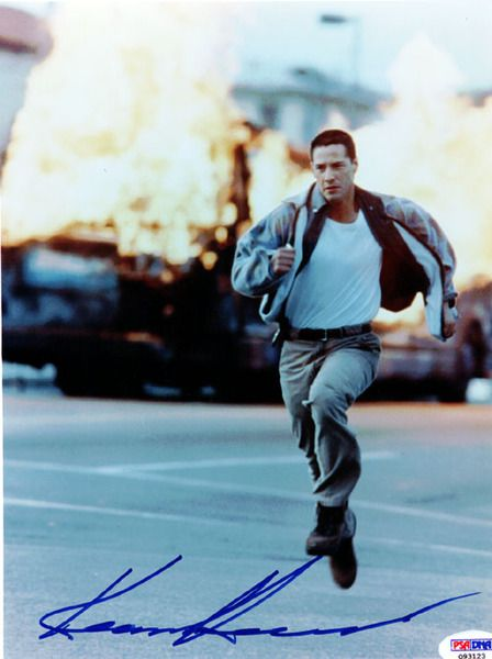 Keanu Reeves Autographed 8x10 Photo Speed PSA/DNA