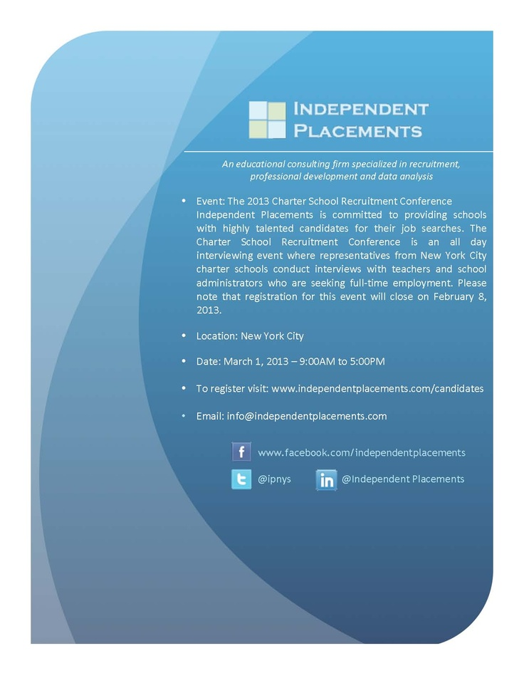 Attention Teachers and School Administrators: The 2013 Charter School Recruitment Conference registration ends Feb 8th