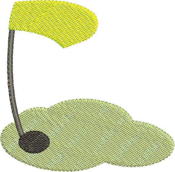 Golf Green Mini Embroidery Design