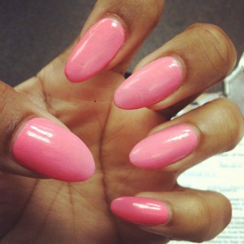 Best 25 Pink oval nails ideas on Pinterest  Almond nails