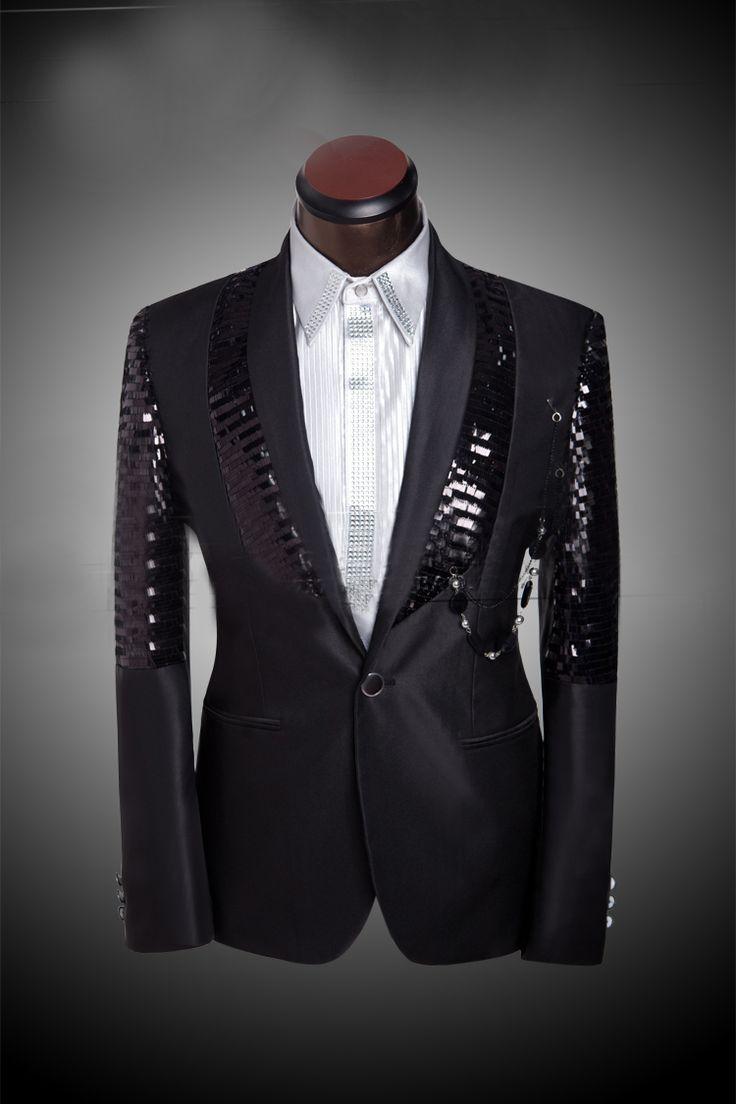 Shiny Pants For Men Prom Sequin Dress Costume Wedding