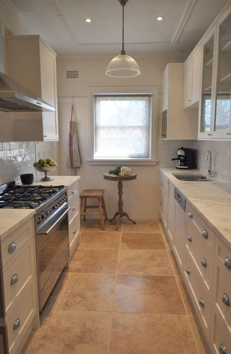 86 best ideas for the kitchen images on pinterest for Country style galley kitchens