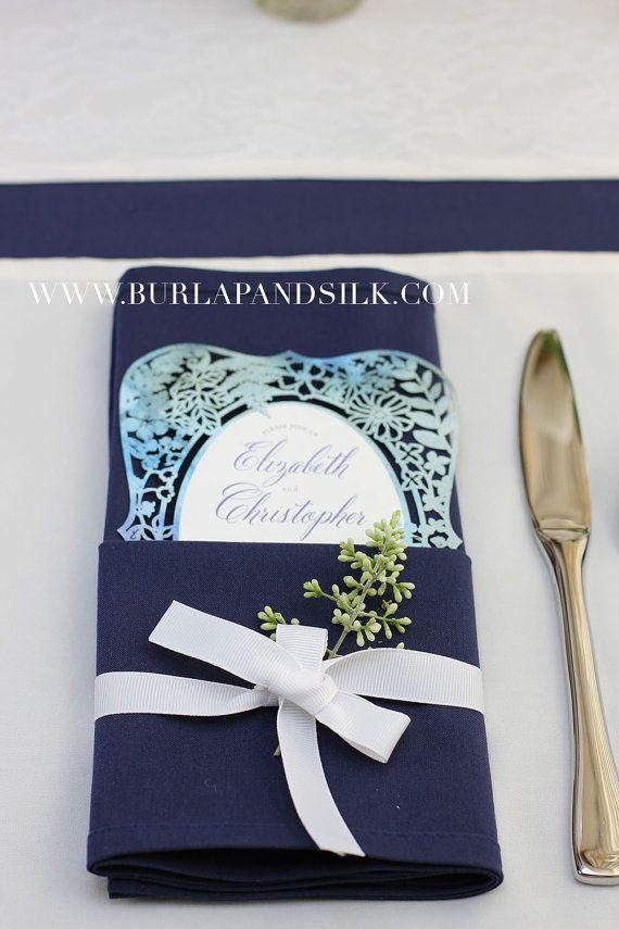 Navy Blue Napkin for Weddings