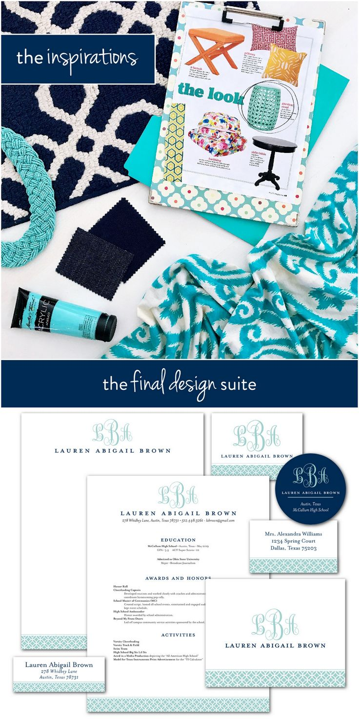 100% custom sorority packet designs! Share your inspirations with us, then work with our award-winning designer to create a suite that's completely unique to you. | www.sororitypackets.com