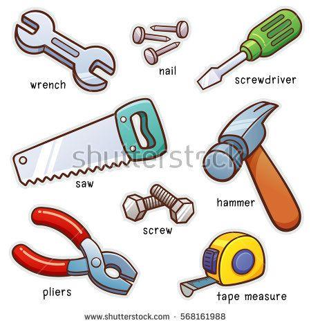 Vector illustration of Vocabulary Tools set