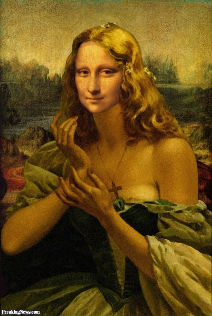 Funny Mona Pictures - Freaking NewsMona Lisa  More Pins Like This At FOSTERGINGER @ Pinterest