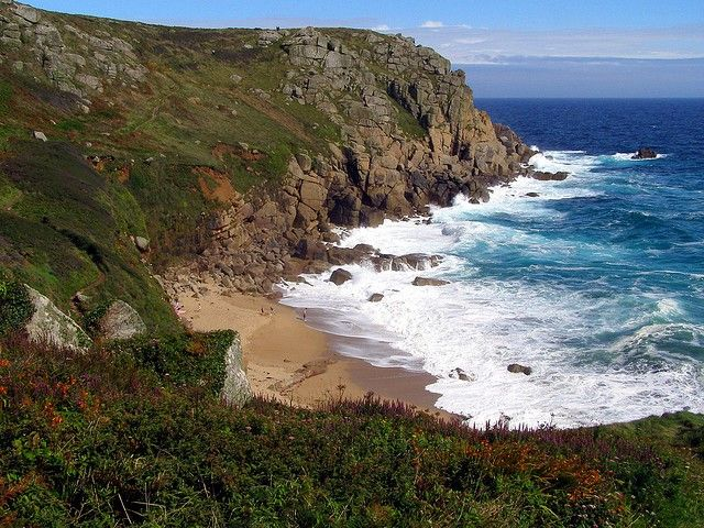Porthgwarra, Cornwall | Poldark Filming Location | The Valley | http://www.thevalleycornwall.co.uk/blog/2015/03/21/visit-cornwall-video-captures-stunning-poldark-filming-locations-from-the-air/