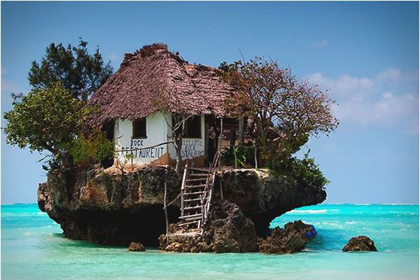Little hut on a teeny tiny island - just look at that water!