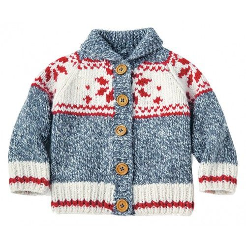"Mary Maxim - Baby Snowflake Sweater & Hat - Sizes 3, 6 months (19, 20"")"